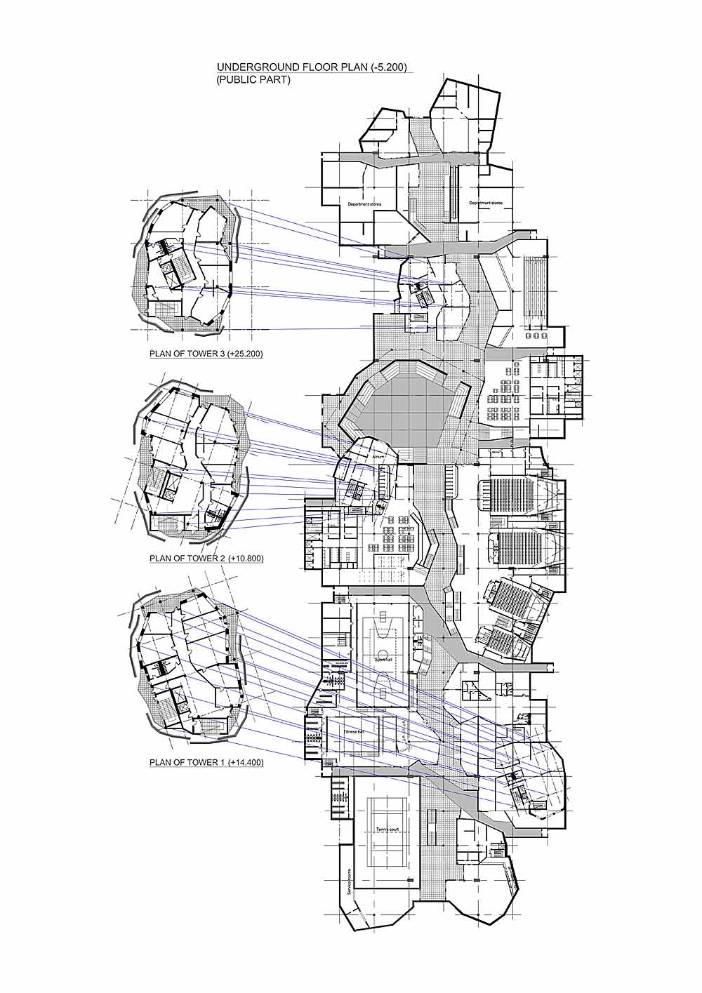 The gallery for underground home blueprints for Underground homes floor plans