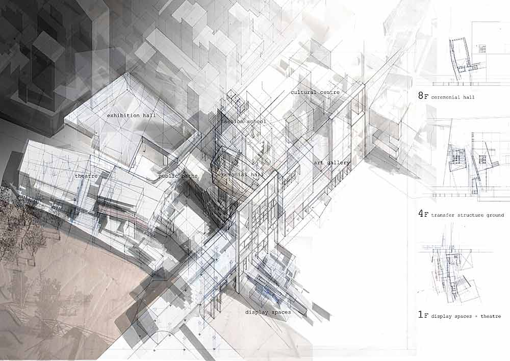 Presidents medals ark umeda urban metabolism in osaka for Architektur axonometrie