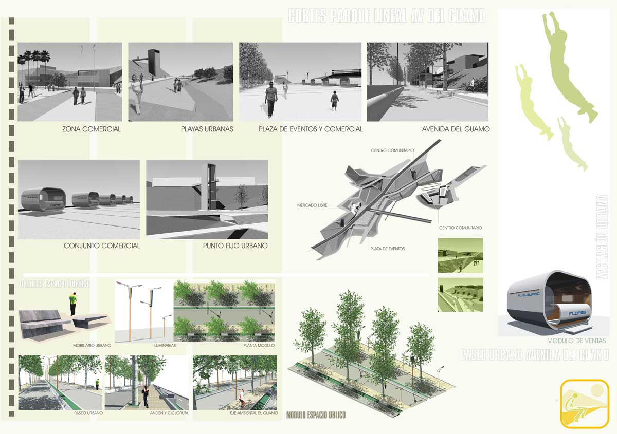 Presidents medals public space system in the north for Outer space urban design