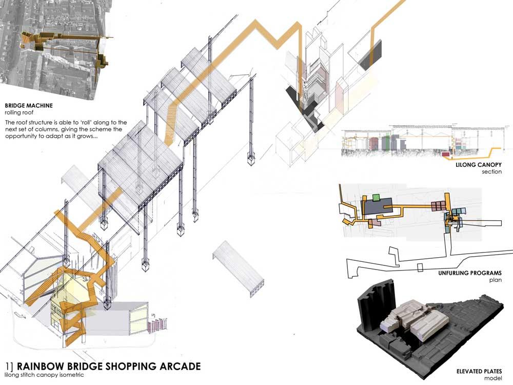 Rainbow Bridge Shopping Arcade Lilong Stitch Canopy