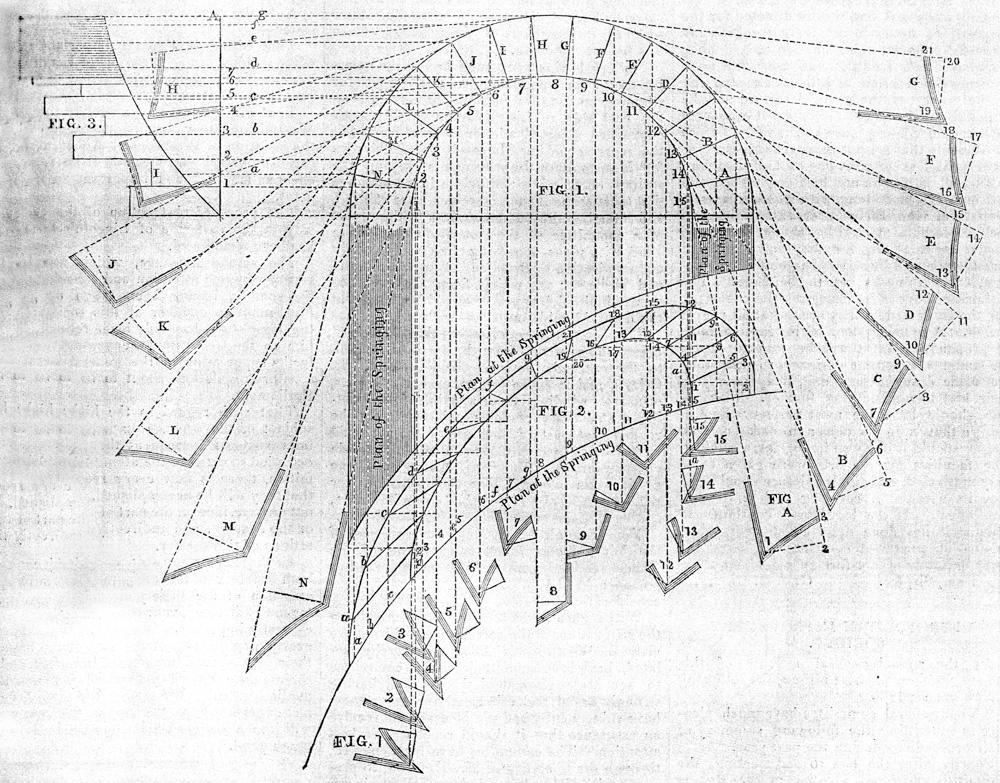 Bridge Architecture Drawing in Detail at a Drawing