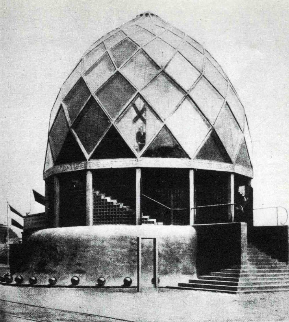 The glass pavilion werkbund exhibition cologne 1914
