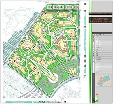 Urban plan Hamburg CDR