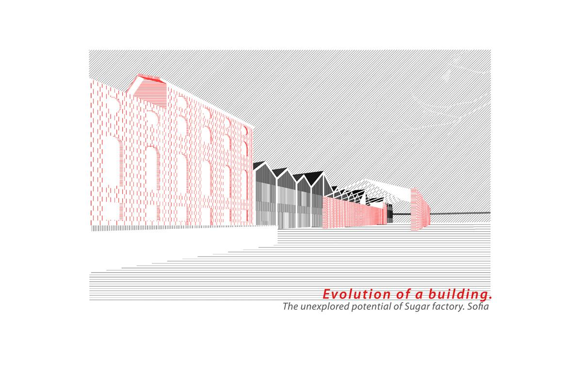 Evolution of a building. The unexplored potential of Sugar factory. Sofia