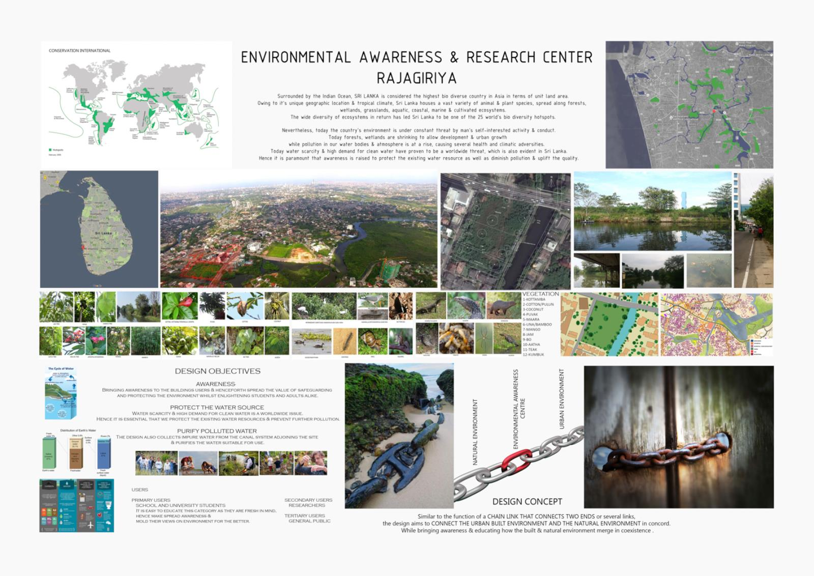 Comprehensive Design Project for  Envrionmental Awareness and Research Center in Rajagiriya