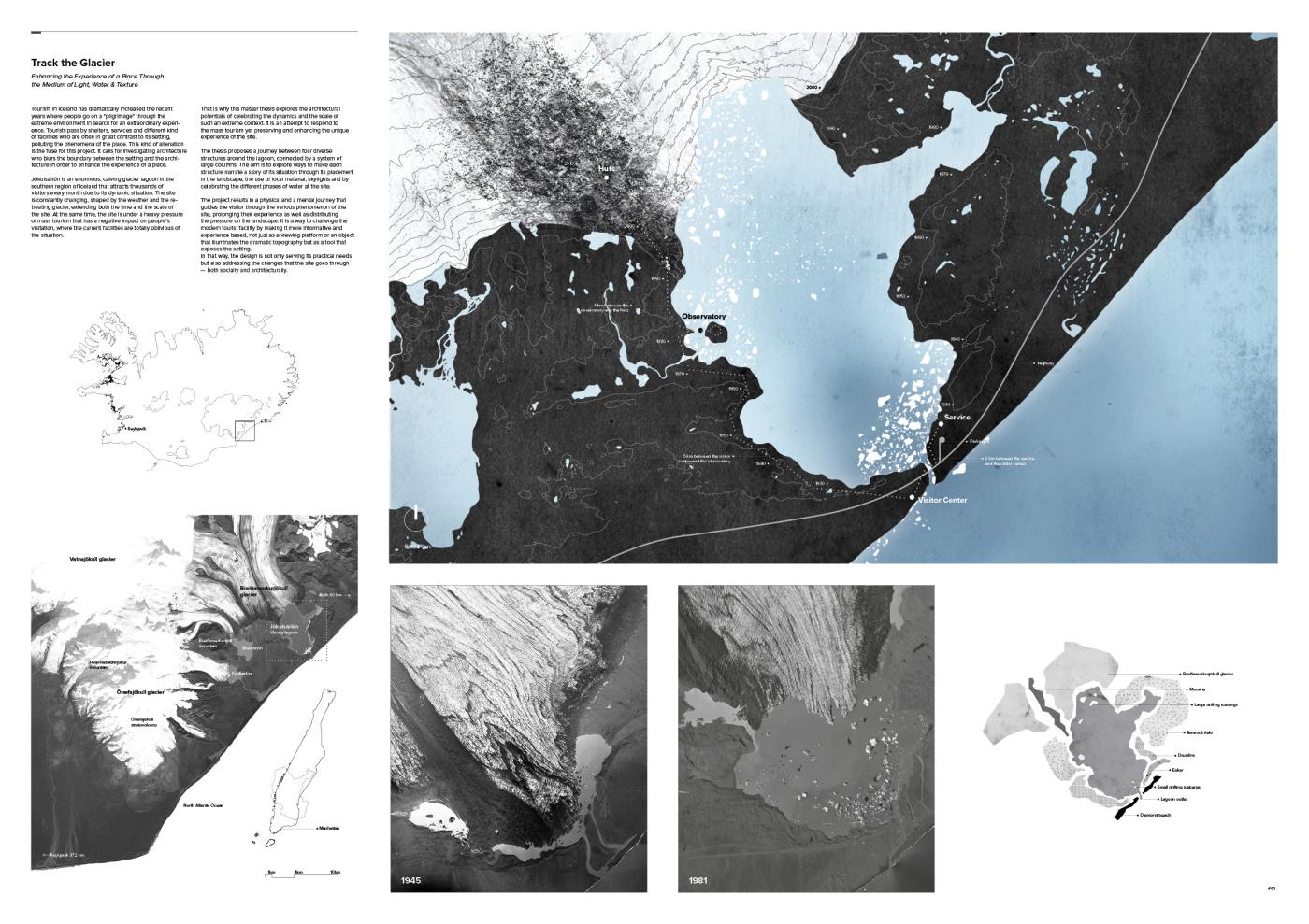 Track the Glacier – Enhancing the Experience of a Place Through the Medium of Light, Water and Texture